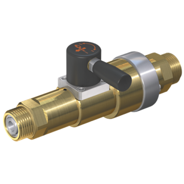 WEH High pressure linear valve with integrated check valve and manual actuation