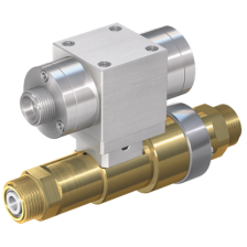WEH High pressure linear valve with check valve, venting and pneumatic actuation
