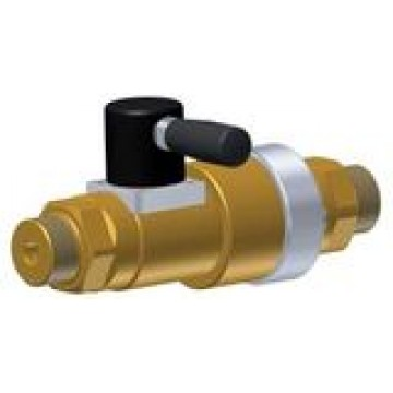 High pressure linear valve with venting and manual actuation