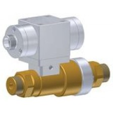 High pressure linear valve with venting and pneumatic actuation