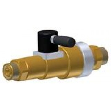 Linear valve with integrated check valve, venting and manual actuation