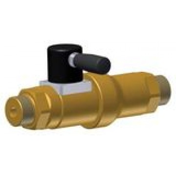 High pressure linear valve, manual actuation