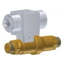 High pressure linear valve, pneumatic actuation