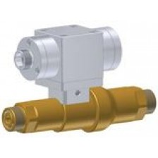 High pressure linear valve with integrated check valve and pneumatic actuation